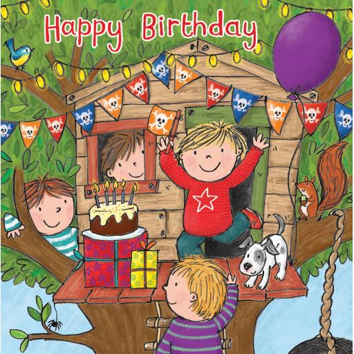 Twizler Card - Milo Treehouse (Happy Birthday)