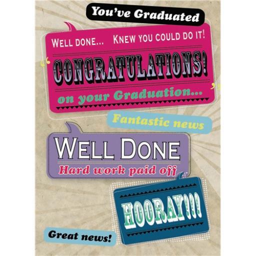 Congratulations Card - Graduation