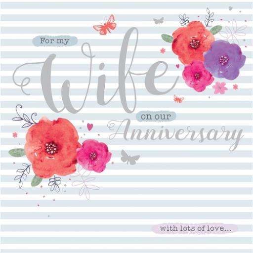 Anniversary Card - Floral (Wife)