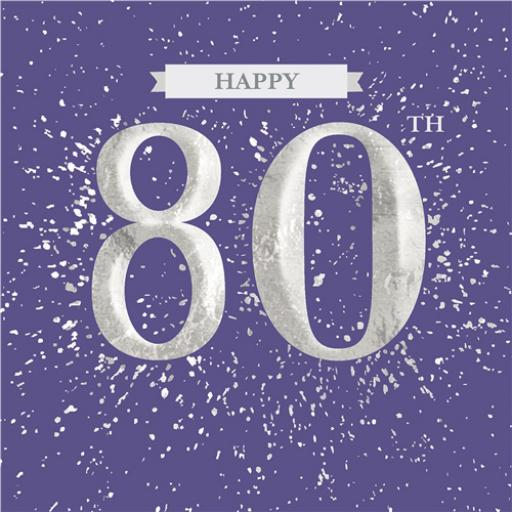 Age To Celebrate Card - 80