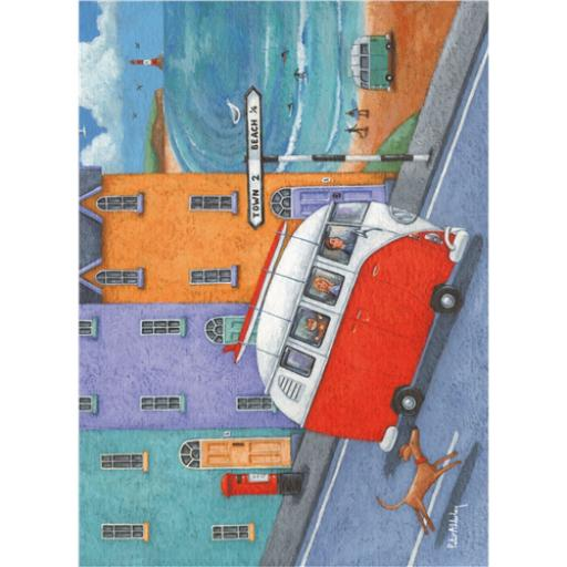 Peter Adderley Card - Off To The Beach