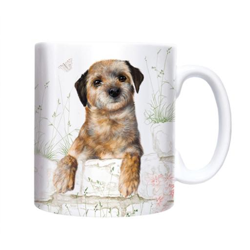 Straight Sided Mug - Border Terrier