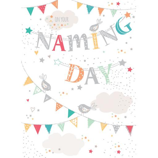 Naming Day Card - Bunting