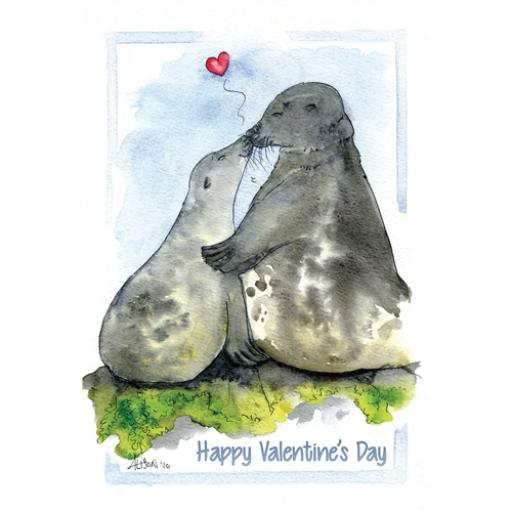 Valentines Day Card - Sealed With A Kiss