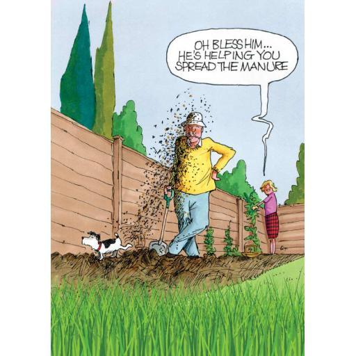 Gardeners Weakly Card - Spread The Manure