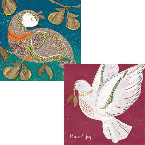 RSPB Luxury Christmas Card Pack - Festive Birds