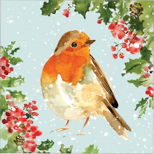 Charity Christmas Card Pack - Christmas Robin