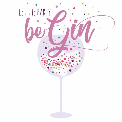 Cheers Card Collection - Let The Party Be Gin