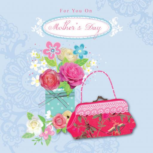 Mother's Day Card - Flowers & Handbag