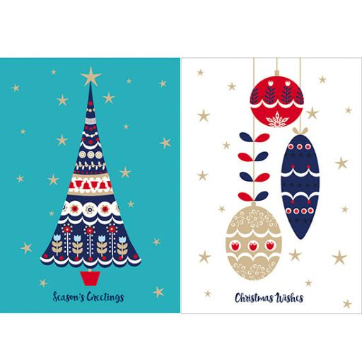 Help For Heroes Christmas Card Pack (Medium) - Oh Christmas Tree
