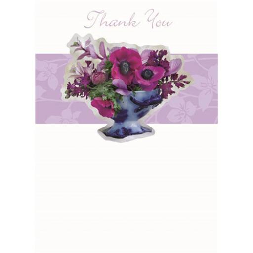 Thank You Card - Rose And Panel
