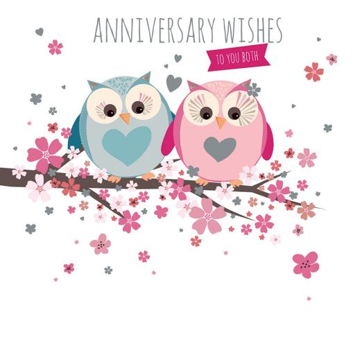 Anniversary Card - Cute Owls (To You Both)