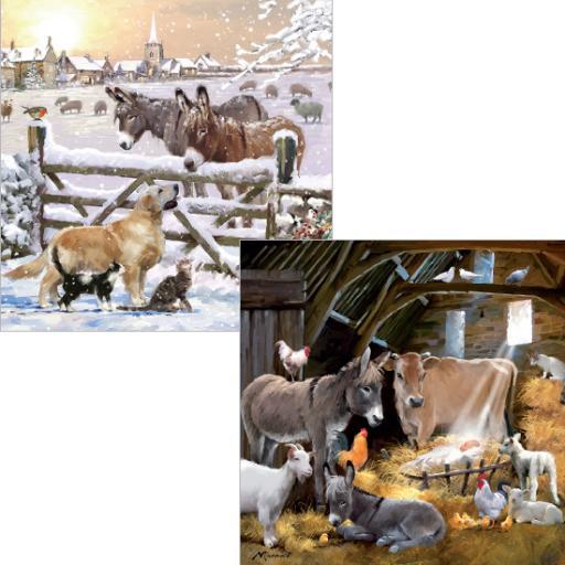 Luxury Christmas Card Pack - Christmas On The Farm