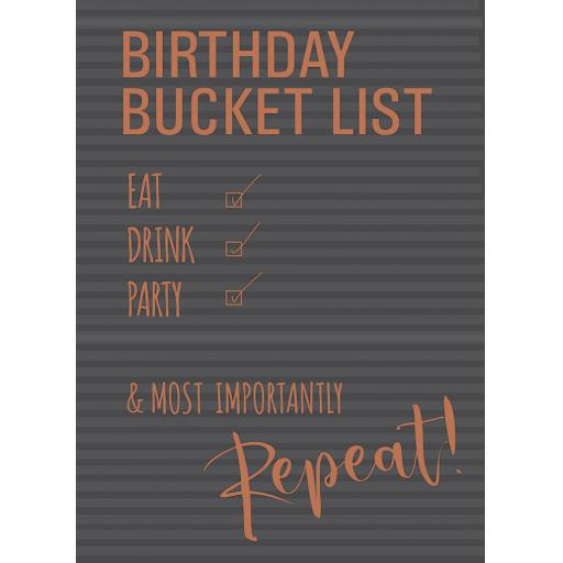 Just Saying Card - Birthday Bucket List