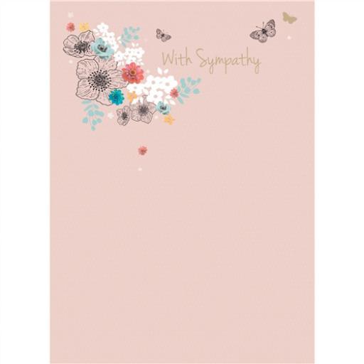 Sympathy Card - Delicate Floral