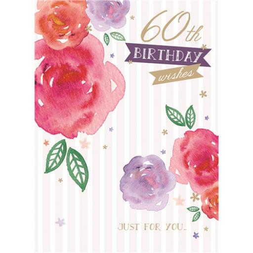 Age To Celebrate Card - 60 Roses