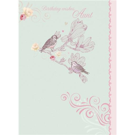 Family Circle Card - Birds On Blossom (Aunt)