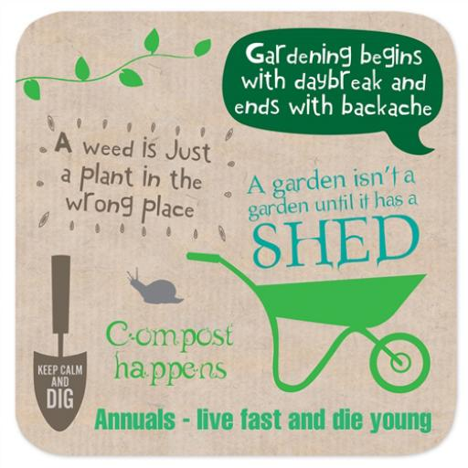 Coasters - Perfect Gifts For Him & Her Gardening