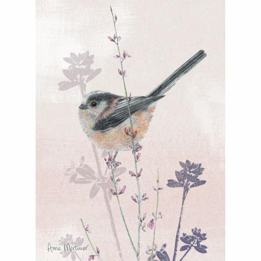 RSPB Card - In the Flowers - Longtail Tit
