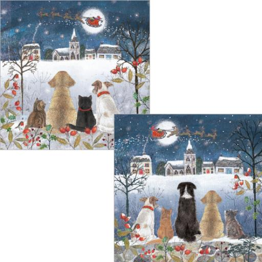 Luxury Christmas Card Pack - Christmas Eve Watch