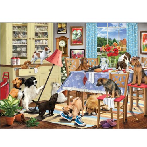 Rectangular Jigsaw - Dogs In The Dining Room