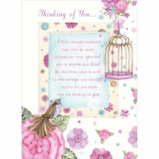 Sentiments Card - Thinking Of You