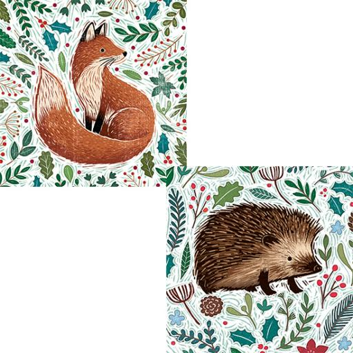 RSPB Luxury Christmas Card Pack - Festive Foliage