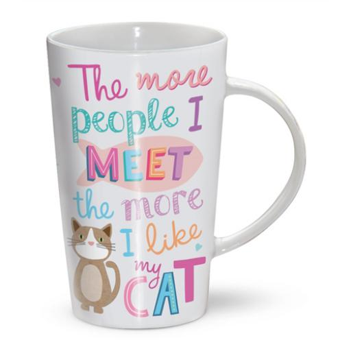 Latte Mug - The More I Like My Cat