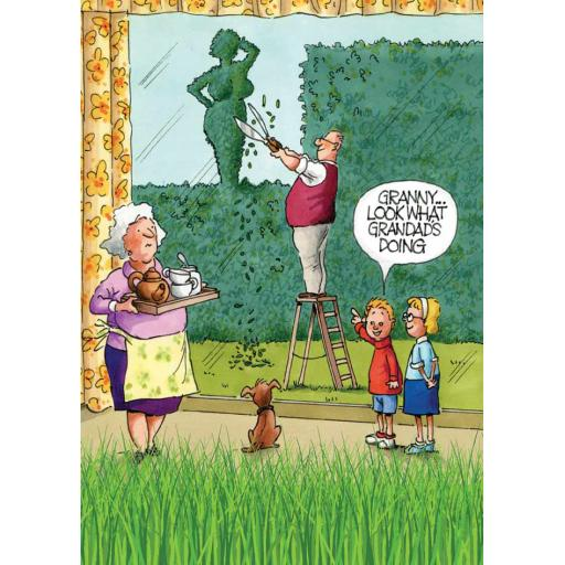 Gardeners Weakly Card - Look At What Grandad's Doing