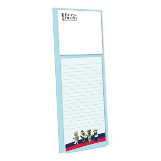 Help For Heroes Stationery - Magnetic Memo Pad With Sticky Notes
