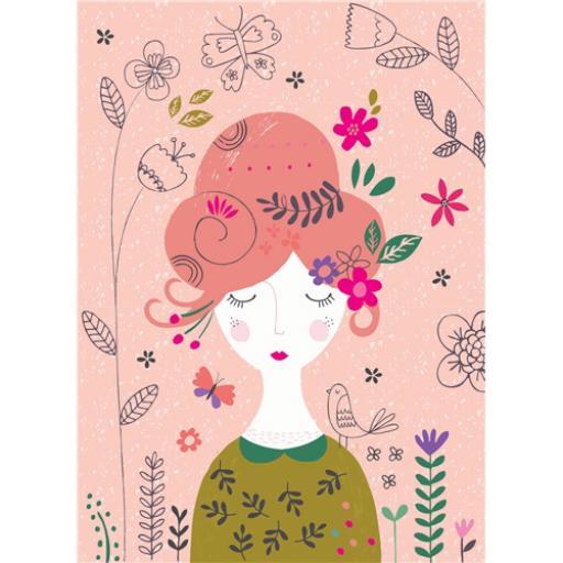 Marie Curie Card (Range 2) - Flowers In Her Hair