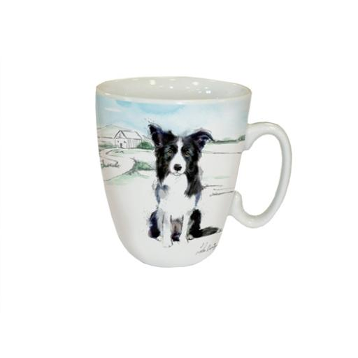 Curved Mug - Border Collie