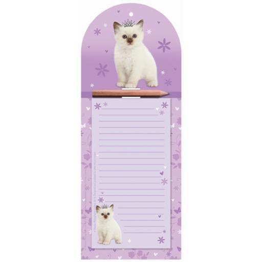 Magnetic Memo Pad - Princess Kitty