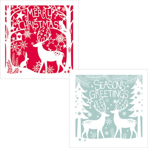 Luxury Christmas Card Pack - Festive Reindeers
