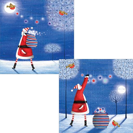 Help For Heroes Christmas Card Pack (Luxury) - Starry Washing
