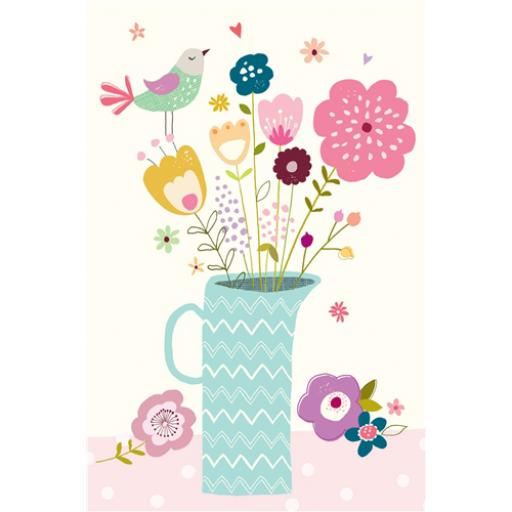 Dinkies Mini Card - Flower Vase
