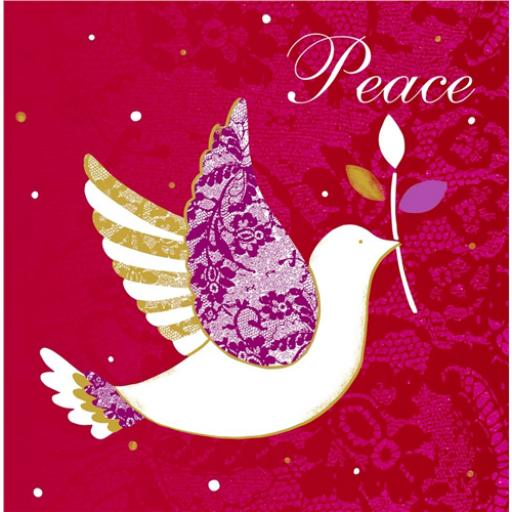 RSPB Small Square Christmas Card Pack - Dove Of Peace