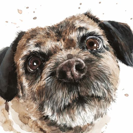Puppy Dog Eyes Card Collection - Border Terrier Buster