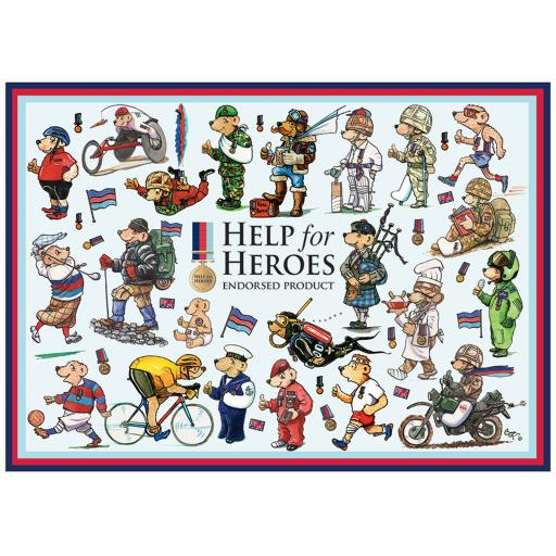 Rectangular Jigsaw - Help For Heroes Bears