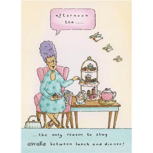 Blue Rinse Card - Afternoon Tea