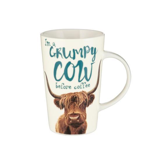 Latte Mug - Grumpy Cow