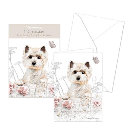 Pollyanna Pickering Stationery - Notecard Pack - West Highland Terrier