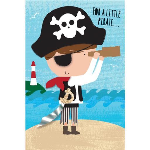 Dinkies Mini Card - Percy Pirate