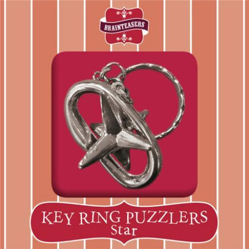 Brainteasers - Key ring Puzzle - Star (Intermediate)