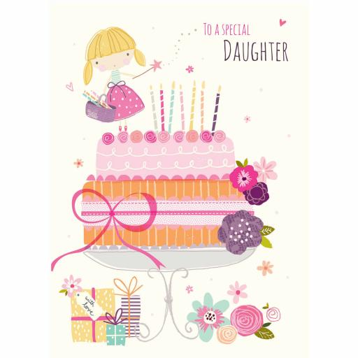 Family Circle Card - Fairy On The Cake (Daughter)
