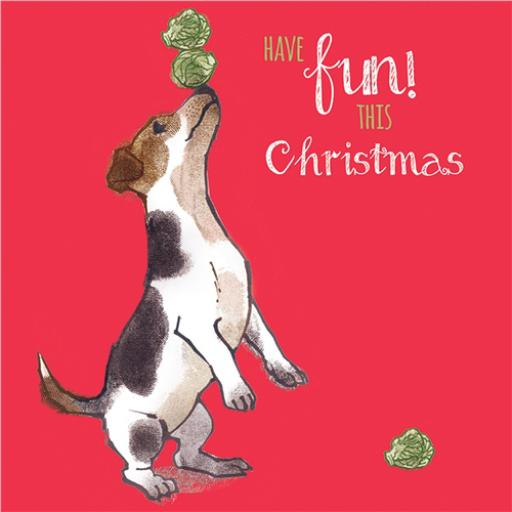 Charity Christmas Card Pack - Fun Jack Russell