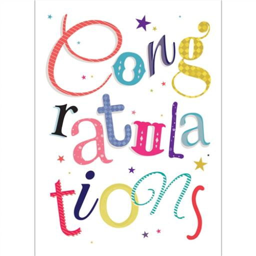 Congratulations Card - Text