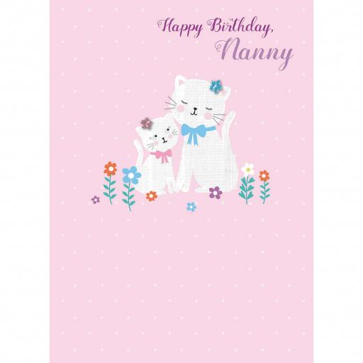 Family Circle Card - Cat & Kitten (Nanny)