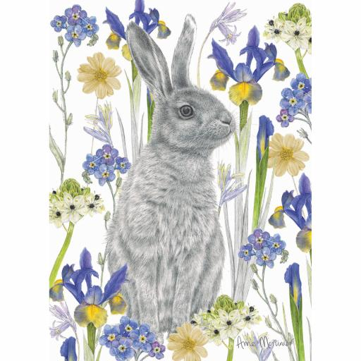 RSPB Card - In the Flowers - Hidden Hare