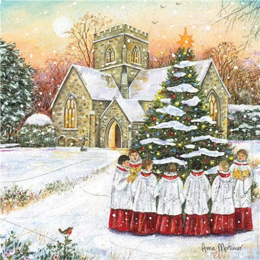 Charity Christmas Card Pack - Joyous Carollers